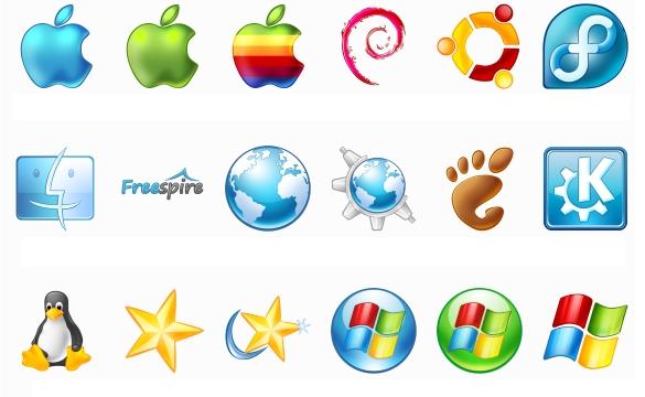 Logos sytèmes d'exploitation